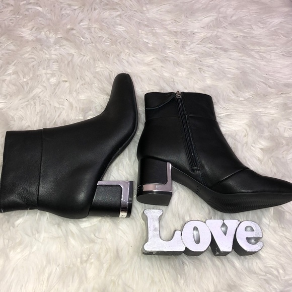 a2db4a972 Dkny Shoes | Corrie Ankle Booties Black Leather Size 6 New | Poshmark